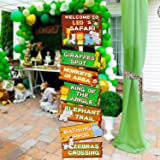 Safari Jungle Animals Party Signs Wild Animals Welcome Signage Zoo Animals Birthday Party Baby Shower Yard Decorations Photo