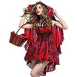 【 サイズが選べる 】monoii 赤ずきん コスプレ 大きいサイズ 大人 レディース あかずきん コスチューム 赤頭巾 コス 衣装 ハロウィン 仮装 メンズ d165
