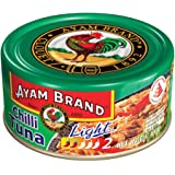 Ayam Brand Chilli Tuna Light | Wild Caught Premium Tuna | Reduced Fat | Protein, Omega 3, Vitamin E, B6 & B12 | Halal & Healt