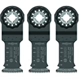"""Bosch OSL114JF-3 Starlock Bi-Metal Extra Clean Plunge Cut Blade (3 Pack), 1-1/4"""""""