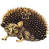 DUOWEI Alloy Antique Gold Plated Cute Hedgehog Brooches Animals Pin Clothes Decoration Female Jewelry Gift