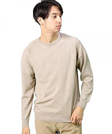 12 Gauge Wool Crewneck Sweater 1213-106-3113: Beige