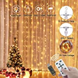 LEDGLE Decorative String Light Fairy Curtain Lights Versatile Indoor and Outdoor Icicle Light with Wireless Remote Control IP