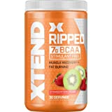 XTEND Ripped BCAA Powder Strawberry Kiwi | Cutting Formula + Sugar Free Post Workout Muscle Recovery Drink with Amino Acids |