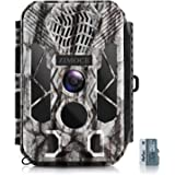 ZIMOCE Trail Camera 20MP 1520P, Game Camera with Night Vision Motion Activated Waterproof IP66 Hunting Camera with Built-in M