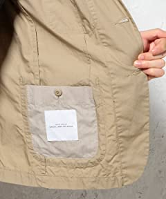Washed Poplin Work Jacket 3222-186-0263: Beige