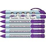 "Greeting Pen""Teachers Shape the Future"" #1 Teacher Pens with Rotating Messages, 6 Pen Set (36402)"