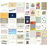 144 Greeting Cards Assortment Bulk Box for All Occasions, Birthday, Graduation, Baby Shower & Thank You, 48 Various Designs w
