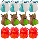 Fun Express Dragon Rubber Duckies (Set of 12) Medieval Party Supplies