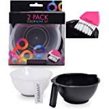 Framar Color Bowl with Brush Cleaner Set - Mixing Bowls - For Hair Color, Hair Bleach, Hair Dye, Coloring - Coloring Set - 2