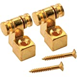 Musiclily Vintage Roller Guitar String Guides for Fender Strat Stratocaster Tele Telecaster Electric Guitar, Gold(4 Pieces)