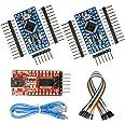WayinTop Pro mini ATMEGA328P 3.3V 8M マイコンモジュール 2個 FT232RL USB-TTLシリアル変換器 3.3V/5V切り替え 1個 専用USBケーブル付き メス-メス ジャンパー線付き