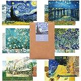 モノライク ゴッホ 葉書 はがき ポストカード Gogh postcard set 12セット感性的なデザインはがきデイリーはがき、雰囲気のあるすっきりしたはがき長方形葉書,デザイン文具