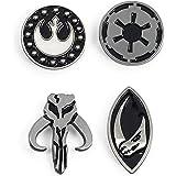Star Wars The Mandalorian Symbols 4-Piece Enamel Pin Set   Base Metal Pins