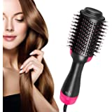 GS One Step Hair Dryer and Volumizer, Oval Blower Hair Dryer Salon Hot Air Paddle Styling Brush Negative Ion Generator Hair S