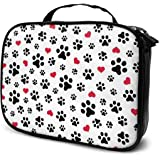LOKIDVE Women's Cute Dog Paws Print Makeup Bag Portable Hanging Travel Toiletry Cosmetic Case Organizer Pouch