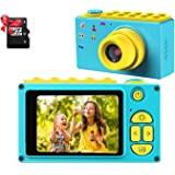 DigitCont Kid Cam Blue Digital Camera for Girls, 1080P FHD Kids Camera, Kid Camera LCD Screen, Compact Portable Mini Cameras
