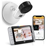 Kodak Kodak C520 WiFi Video Baby Monitor with Above-The-Crib View, Parent Unit for Constant Monitoring and Phone App for Quic