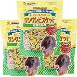 ドギーマン 犬用おやつ おなかにやさしいワンワンビスケット 野菜 450g×3個 (まとめ買い)