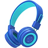 iClever BTH02 Kids Headphones, Kids Bluetooth Headphones with MIC, 22H Playtime, Bluetooth 5.0 & Stereo Sound, Foldable, Adju