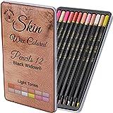 ライトスキントーンカラー鉛筆 ポートレートセット 大人用カラー鉛筆 Skintoneアーティスト鉛筆