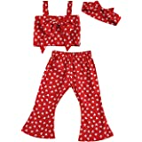 Tempura Baby Toddler Girls Ruffles Demin Dress, Solid Color with Cartoon Big Bow Minnie Mouse Shoulder Bag Casual Playwear Ou