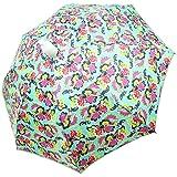 傘 レディース服が濡れないカバー付き傘 『スルット傘・緑花柄』 YS-1004-T ユタカエッセ