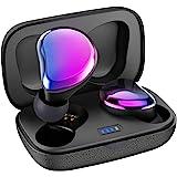 Sontinh CoolBuds2 Bluetooth イヤホン,【2020进化版】, かわいいな紫色の完全ワイヤレスイヤホン,IPX5防水、世界最小の充電ボックスに, 女性に最適 bluetooth 5.0 ワイヤレスイヤホン