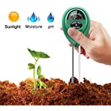 BYETOO Soil pH Meter, 3-in-1 Soil Test Kit For Moisture, Light & pH, A Must Have For Home And Garden, Lawn, Farm, Plants, Her