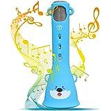 Tosingカラオケマイク 子供のマイク おもちゃ 誕生日プレゼント 女の子 人気 高音質カラオケ機器 Bluetoothで簡単に接続 無線マイク 一人でカラオケ Android/iPhoneに対応 日本語説明書付き(ブルー)