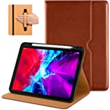 DTTO New iPad Pro 11 Case 2nd Generation 2020&2018, Premium PU Leather Business Folio Stand Cover [Apple Pencil Pair and Char