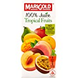 MARIGOLD 100% Juice, Tropical Fruits, 200ml, (Pack of 24)