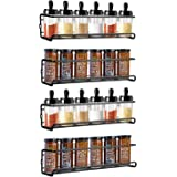 Spice Racks, Woochy Spice Organizer Wall Mount with Plenty of Screws and Wall Anchors, Hanging Spice Shelves for Kitchen Cabi