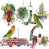 iSbaby Bird Toys Bird Shredding Foraging Toys Parakeet Toy Chewing Hanging Toy Bird Shredded Paper Bird Cage Accessories Bird
