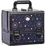 Makeup Travel Case Cosmetic Organizer - Professional Large Lockable Box Make Up Artist Organizer Kit with 3 Trays & Key Lock