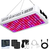 HONORSEN 1500W LED Grow Light Full Spectrum Double Switch Plant Light for Hydroponic Indoor Plants Veg and Flower (10W LEDs 1