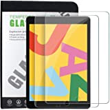 TERSELY [2 Pack] Tempered Glass Screen Protector for Apple New iPad 7/8 (10.2-inch), Premium 9H Hardness HD 2.5D Case-Friendl