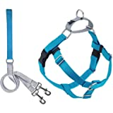 2 Hounds Design Freedom No-Pull Dog Harness with Leash, X-Large, 1-Inch Wide, Turquoise