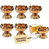 CRAFTSMAN Crafts'man (10Pc) Pure Virgin Brass Diwali Puja Jyoti Diya Indian Pooja Oil Lamp Dia. Deepawali Diya/Oil Lamp/Candl