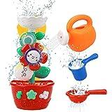 GOODLOGO Flower Bath Toys Bathtub Toys for Toddlers Babies Kids 2 3 4 Year Old Girls Boys Gifts with 1 Mini Sprinkler 2 Toys