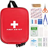 First Aid Kit 100pcs,First Aid Kit for Car,Compact Emergency First Aid Kit,Travel First Aid Kit,Waterproof EVA Case and Bag f