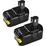 Energup 2Pack P108 Lithium Battery 18V 5000mAh with Recharge Indicator for Ryobi 18-Volt ONE+ Tool P102 P103 P104 P105 P107 P
