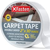 XFasten Double Sided Carpet Tape for Area Rugs, Residue-Free, 2-Inch x 30 Yards (50.8mm x 27.43m); Wood Safe 2 Faced Rug Tape