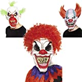 Smiffy's Men's Scary Clown Mask, White & Red, One Size, 35710