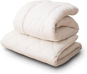 エムール 日本製 羊毛混布団2点セット シングルセット (掛け布団 敷き布団) 防ダニ 抗菌 防臭 『リーベル』