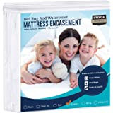 Utopia Bedding Zippered Mattress Encasement - Waterproof Mattress Protector (Queen)
