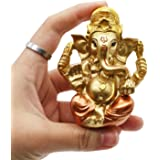 Hindu Ganesh for Car Dashboard - Indian Mini Ganesha Statue Decor - India Pooja Murti Ganpati Idol
