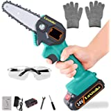 Mini Chainsaw, 4 Inch Cordless Electric Protable Chainsaw Rechargeable Lithium Battery Chainsaw 0.7kg Ultra-Light Electric Sa