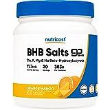 Nutricost BHB パウダー(外因性ケトン塩)、オレンジマンゴー味、非GMO、グルテンフリー