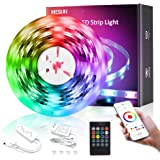 MESUN LED Strip Lights, 16.4ft Smart Wi-Fi LED Light Strip with APP and Remote Control, Upgraded Music Sync Color Changing RG